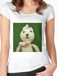 Knitted Character Women's Fitted Scoop T-Shirt
