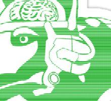 Beware of the Cyber-dog Capital Wasteland Green Sticker
