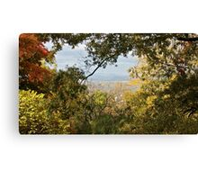 A Dramatic Autumn Vista - Blue Ridge Moutains from Monticello, VA Canvas Print