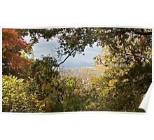 A Dramatic Autumn Vista - Blue Ridge Moutains from Monticello, VA Poster
