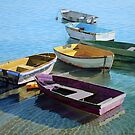 Six dinghies by Freda Surgenor