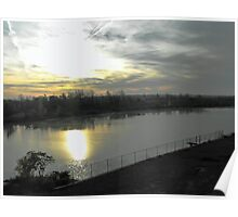 Dawn over the Welland Canal, St. Catharines, Ontario Poster