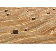 Hay Bales in Tuscany Photographic Print