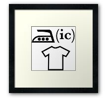 Ironic T Shirt Framed Print