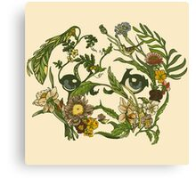 Botanical Pug Canvas Print
