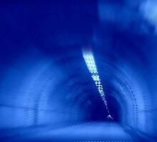 Blue Wormhole in Space Tunnel Photo Edit by stine1