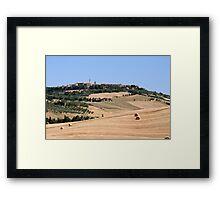 Pienza Framed Print