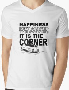 Happiness is the Corner Mens V-Neck T-Shirt