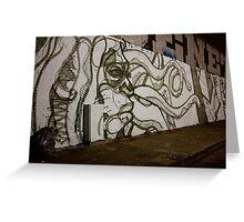 Tentacle Graffiti Greeting Card