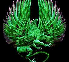 The Griffin (Green Vengeance Logo)  by Jeff Schultz