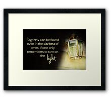 Dumbledore Harry Potter Happiness Quote Framed Print