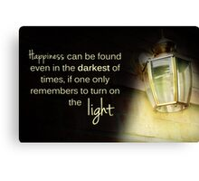 Dumbledore Harry Potter Happiness Quote Canvas Print