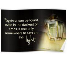 Dumbledore Harry Potter Happiness Quote Poster