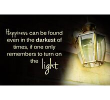 Dumbledore Harry Potter Happiness Quote Photographic Print