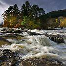 Scotland: Falls of Dochart by Angie Latham