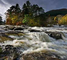 Scotland: Falls of Dochart by Angie Latham