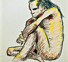 Colorful Caveman - Sitting Male by Shed Simas