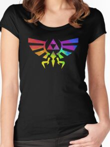 The Legend of Zelda Triforce - Splatter Women's Fitted Scoop T-Shirt