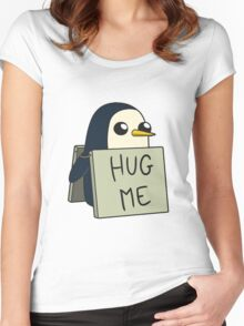 Adventure Time - Hug Me Penguin Women's Fitted Scoop T-Shirt