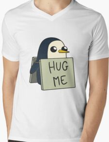 Adventure Time - Hug Me Penguin Mens V-Neck T-Shirt