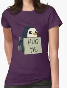 Adventure Time - Hug Me Penguin Womens Fitted T-Shirt