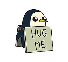 Adventure Time - Hug Me Penguin Photographic Print