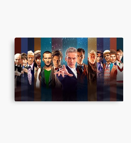 Doctor Who - Faces Canvas Print