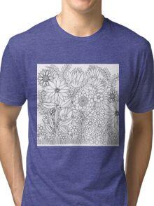 Forest walk on white Tri-blend T-Shirt
