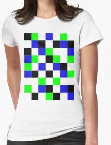 Blocks - Blue Womens Fitted T-Shirt