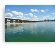 Bridging Forster and Tuncurry NSW Canvas Print