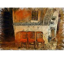 3 Chairs Wide Photographic Print