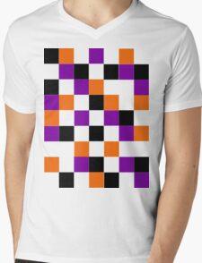 Blocks - Purple Mens V-Neck T-Shirt