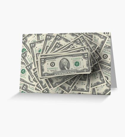 American dollars Greeting Card