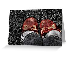 The slippers -- yes, the slippers! Greeting Card