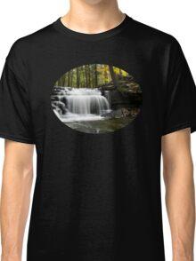 Serenity Waterfalls Landscape Classic T-Shirt