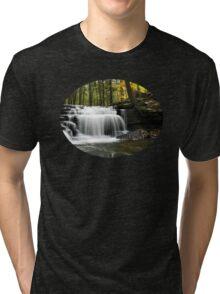 Serenity Waterfall Landscape Tri-blend T-Shirt