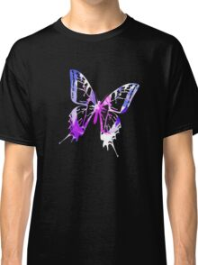Purple Abstract Paint Pattern Classic T-Shirt