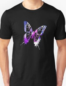 Purple Abstract Paint Pattern Unisex T-Shirt