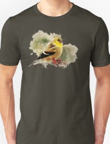 American Goldfinch Watercolor Art T-Shirt