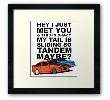 Tandem Maybe Framed Print