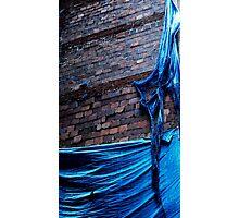 Blue and Brick Photographic Print