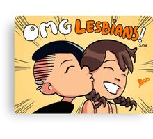 OMG Lesbians! English Cover Canvas Print