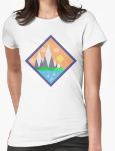 Mountains t-shirt! Womens Fitted T-Shirt
