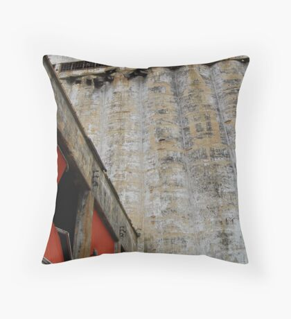 A Grainy History Throw Pillow