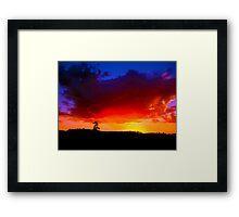 Red Horizon - Western Australia Framed Print