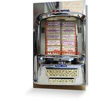 Blue Benn Jukebox Greeting Card