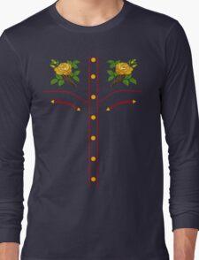 Texas Rose Western Style T-Shirt Long Sleeve T-Shirt