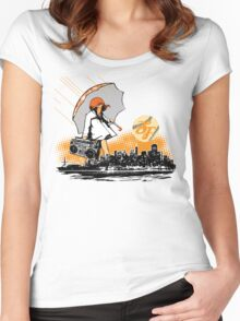 It's Raining Game in SF Women's Fitted Scoop T-Shirt