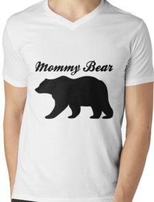 Mommy Bear Mens V-Neck T-Shirt
