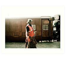 Women security guard, Mumbai, India Art Print